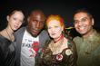 (l-r) Morwenna Lytton-Cobbold, Tafari Hinds, Vivienne Westwood and...