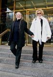 Annie Nelson Leaves Jean George's Restaurant In Manhattan