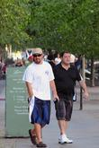 Adam Sandler and friend leaving Lutter & Wegner...