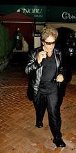 Al Pacino leaving Nobu restaurant looking worse for...