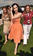 Dita Von Teese Cartier International Polo tournament held...