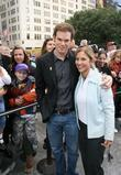 Michael C. Hall poses with a cancer survivor...