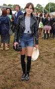 Alexa Chung at Glastonbury Festival - Day One...