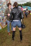 Alexa Chung and Alex Turner at Glastonbury Festival...