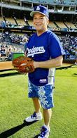 Tom Arnold Dodgers 50th Hollywood Stars soft ball...