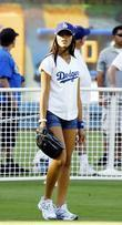 Yasmin Deliz Dodgers 50th Hollywood Stars soft ball...