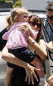 Jennifer Garner and daughter Violet Affleck leaving The Brentwood Country Mart