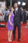 Carla Gugino and Dwayne Johnson aka The Rock