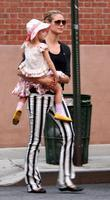 Heidi Klum  takes a family walk in...