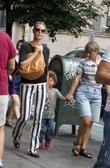 Heidi Klum and her family take a walk...