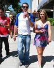 Jason Dottley enjoys a smoothie while walking with...