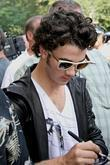 Kevin Jonas The Jonas Brothers are greeted by...