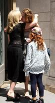Sandra Bernhard and Her Daughter Cicely Yasin Bernhard Leaving The Kabbalah Centre
