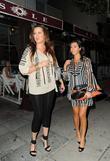 Khloe Kardashian and Kourtney Kardashian leaving El Sole