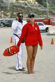 Actor Keith David asks a lifeguard for directions...