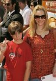Lisa Kudrow and a young guest