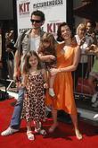 Gabriele Corcos, Debi Mazar with children Giulia and Evelyn