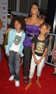 Jada Pinkett-Smith, her children Jaden Smith, Willow Smith