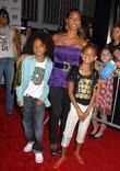 Jada Pinkett-Smith, her children Jaden Smith and Willow Smith