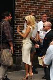Pamela Anderson and David Letterman