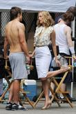 Kim Raver and Robert Buckley On The Film Set For 'lipstick Jungle' At The East Village