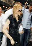 Madonna arriving at the Kabbalah center with her...