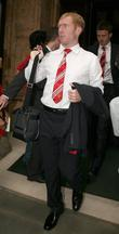 Paul Scholes Manchester United football team leaving The...