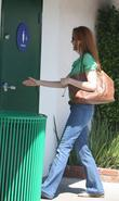 Marcia Cross going into the ladies bathroom at...