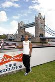Mark Lewis-francis Poses For The Budweiser Record Breaking Photocall