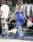Heavily pregnant Rhea Durham