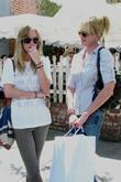 Melanie Griffith and Daughter Dakota Mayi At The Ivy After Shopping At Chanel Boutique On Robertson Boulevard