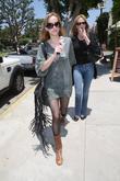 Melanie Griffith and Daughter Dakota Johnson Go To Starbucks In Brentwood