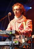 Henry Harrison of the Mystery Jets performing at...