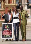 Naomi Campbell, Ozwald Boateng and Nduka Obaigbena