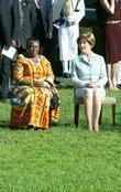 Theresa Mensah and Laura Bush