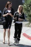 Nicolette Sheridan and A Friend Go To The Grill On The Alley In Beverly Hills For Lunch