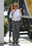 Paul McCartney and Nancy Shevell leave Paul's house...