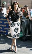 Penelope Cruz and David Letterman