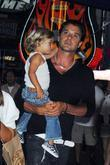 Gavin Rossdale and Kingston Rossdale at a birthday party at the Hard Rock Cafe in Universal City