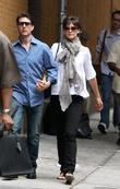 Tom Cruise visits his wife Katie Holmes in...
