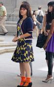 America Ferrera on the set of 'Ugly Betty'...