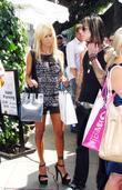 Shauna Sand and A Male Friend Shopping On Robertson Boulevard