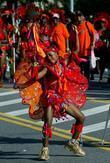 Revelers Of The 41st West Indian American Day Carnival Parade In Brooklyn
