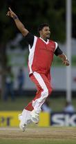 Ravi Rampaul Celebrates A Wicket