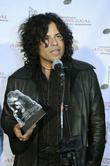 Stevie Salas accepts an award for Best International Album