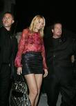 Heidi Klum leaves a show after attending Mercedes...