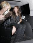 Miley Cyrus leaves a show after attending Mercedes...