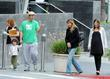 Adam Sandler, his daughter Sadie Sandler and wife...