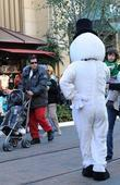Adam Sandler and Sadie Sandler shopping with their family at The Grove