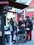 Adam Sandler, Judy Sandler, Jackie Sandler and Sadie Sandler shopping with their family at The Grove